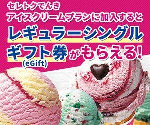 【セレトクでんき】アイスクリームプラン申込